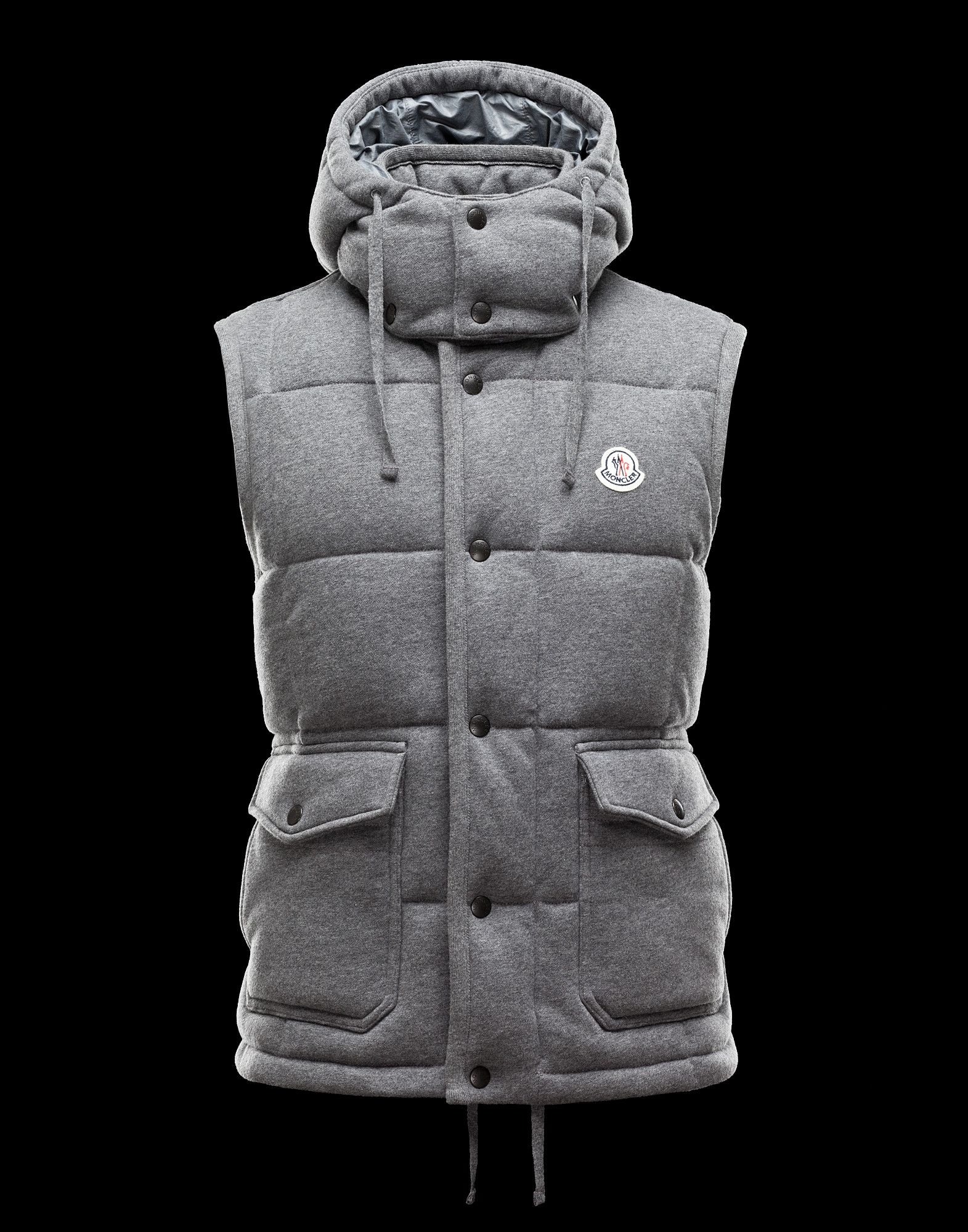 MONCLER Hooded Down Sweater Vest Men Fall/Winter 1213
