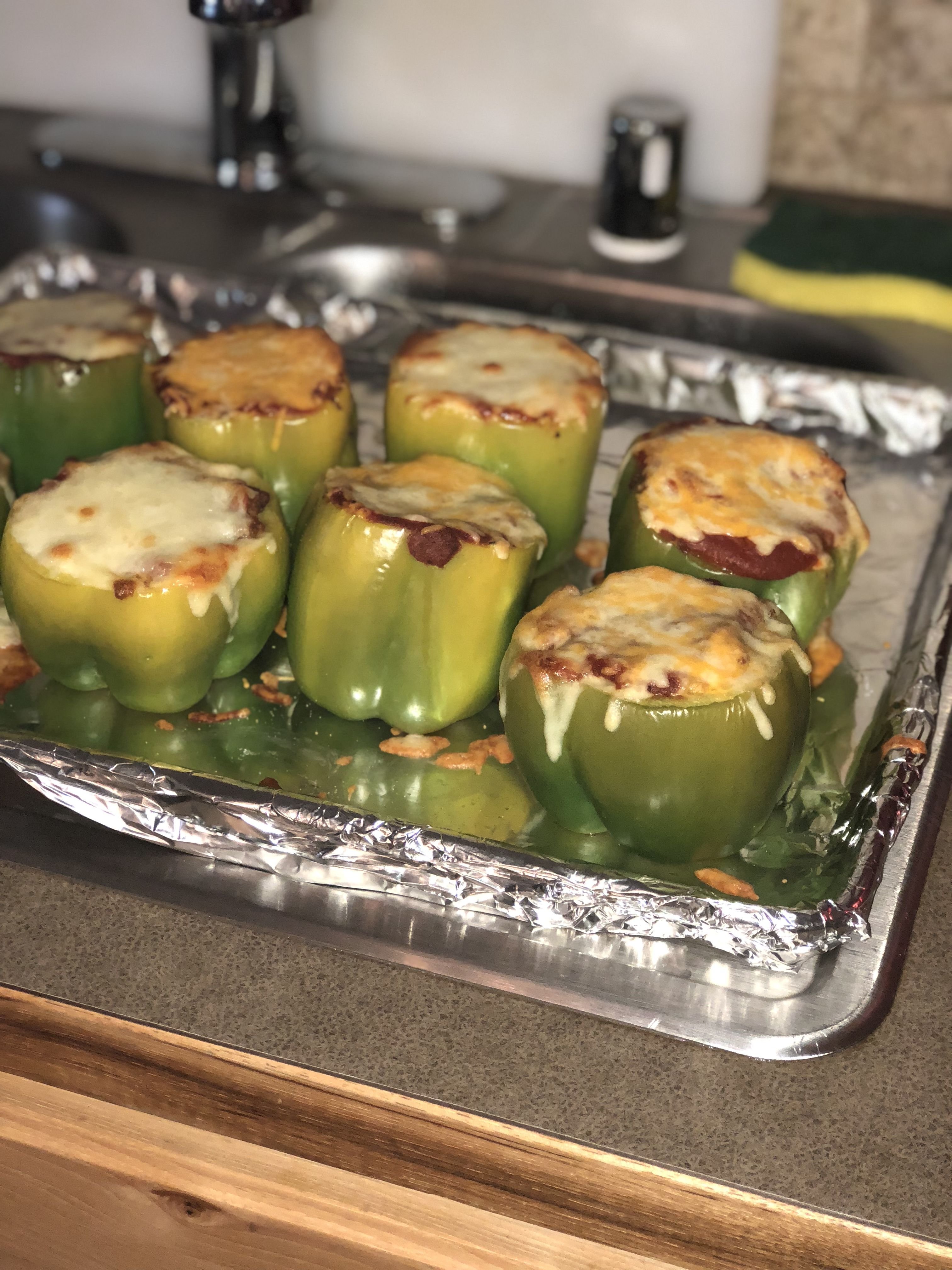 Low Carb Stuffed Bell Peppers #stuffedbellpeppers
