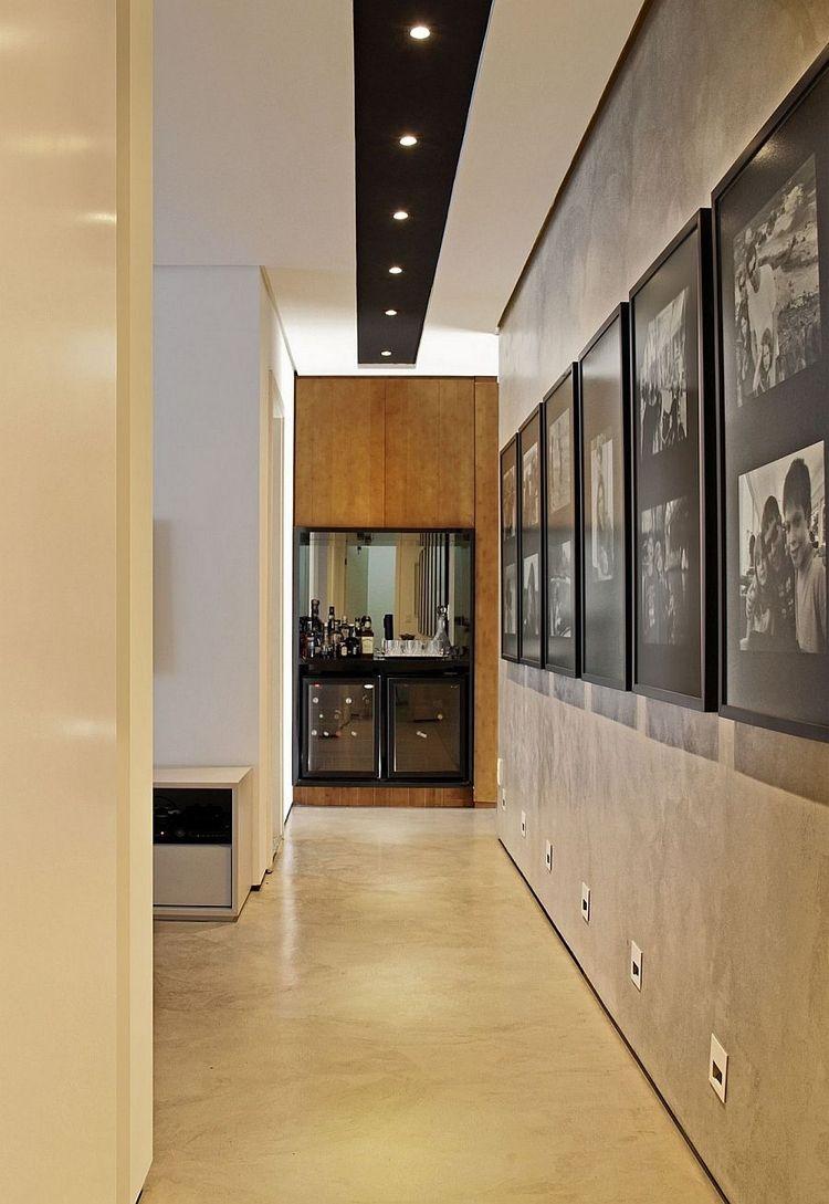 peinture effet b ton cir et lambris bois dans la maison. Black Bedroom Furniture Sets. Home Design Ideas
