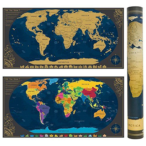 Scratch world map poster bonus scenic spot wall stickers https scratch world map poster bonus scenic spot wall stickers https gumiabroncs Image collections