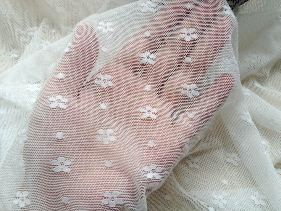 White Stretch Lace Fabric Lovely French Fabric Soft ...
