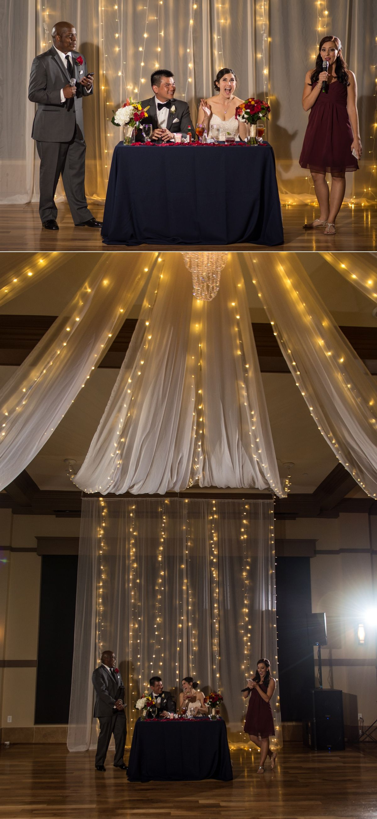 Noah S Event Venue Weddings Beautiful Reception Setup With Drape
