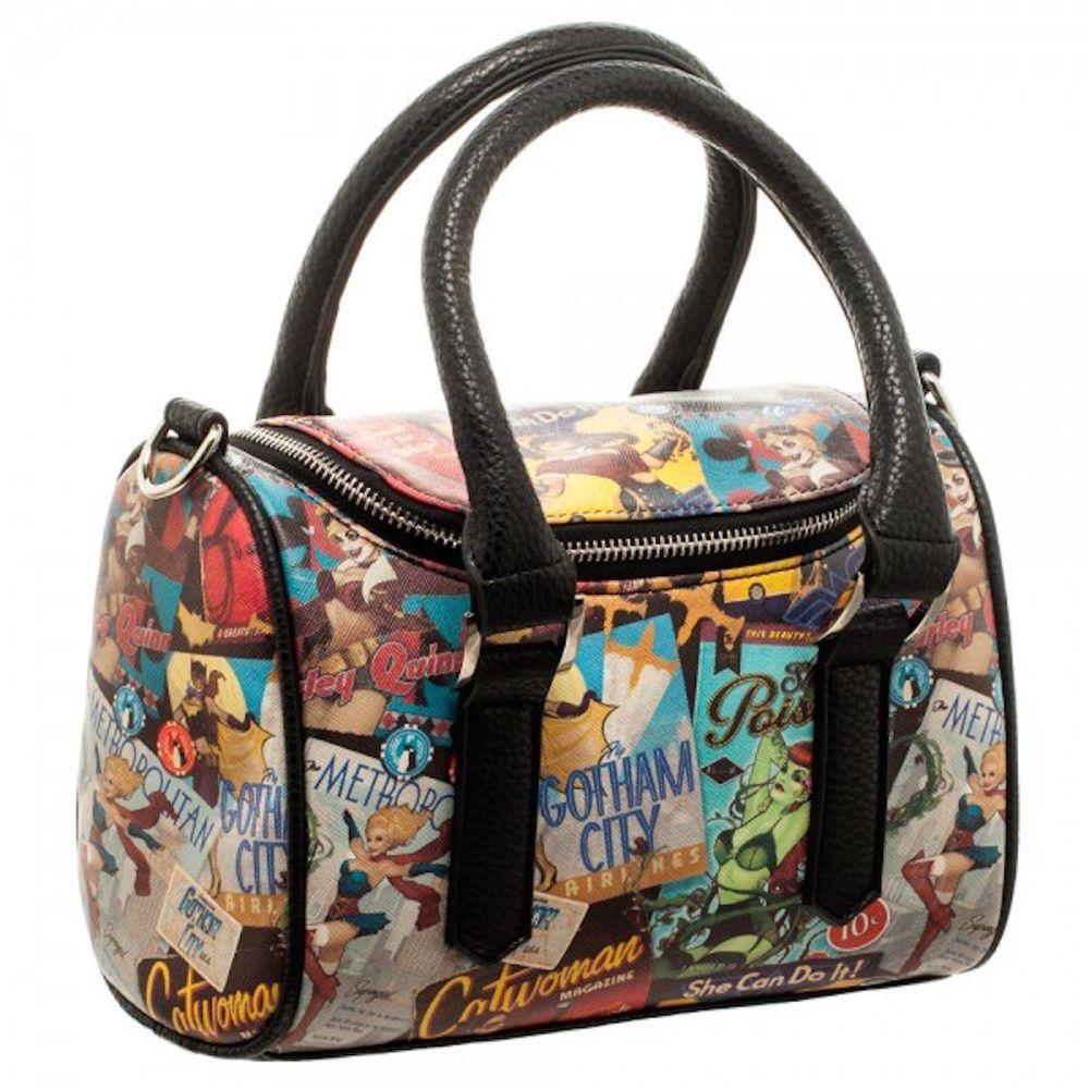 b564695df1 DC Comics Bombshells Mini Satchel Handbag Zippered Purse With 48 Inch Strap  #DCComics