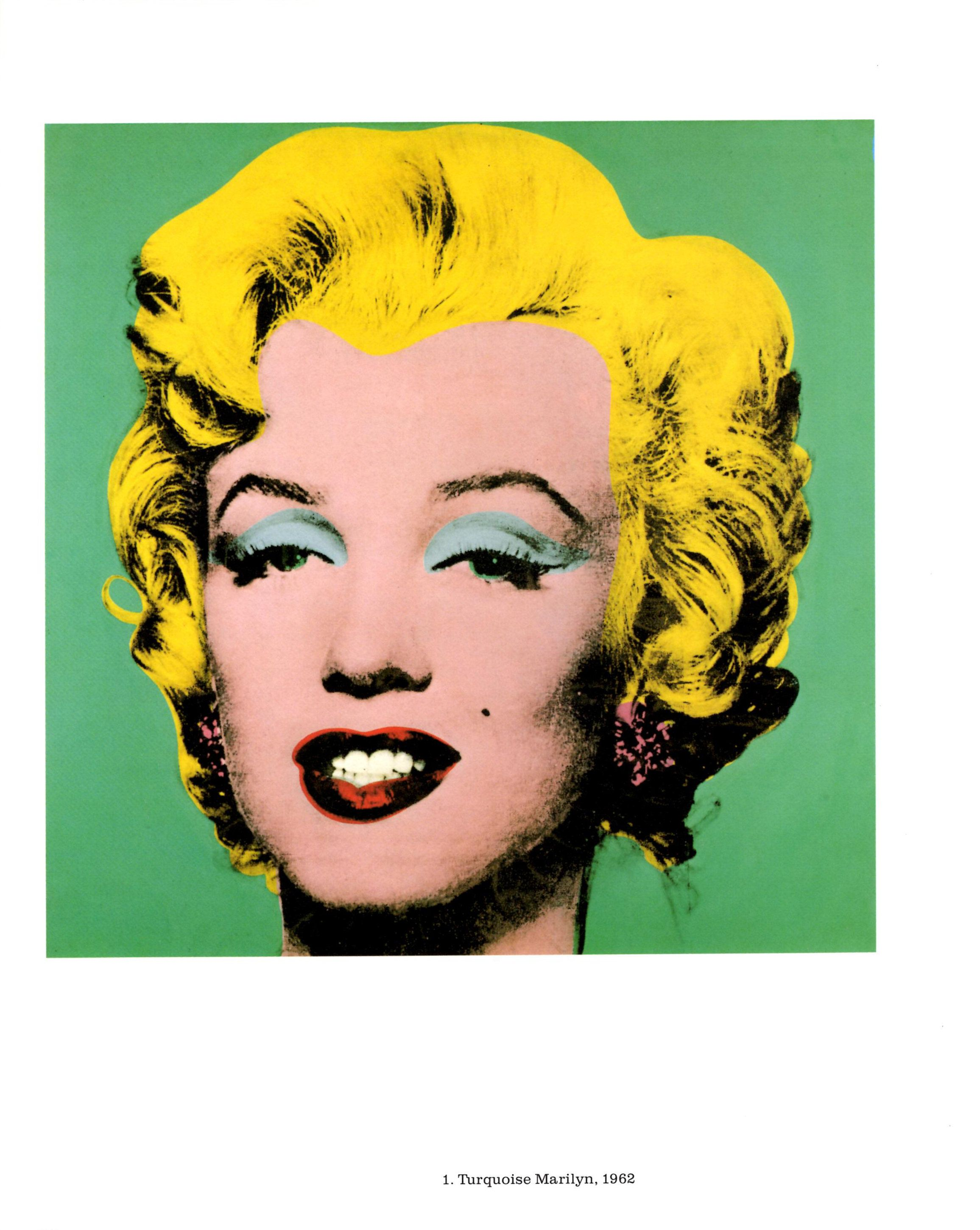 TURQUOISE MARILYN MONROE by Andy Warhol Vintage Pop Art Book | Etsy