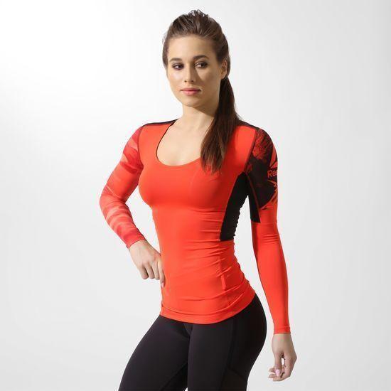 Компрессионная женская футболка с длинным рукавом Рибок ACTIVCHILL BQ4944 -  2017 844f48717f61c