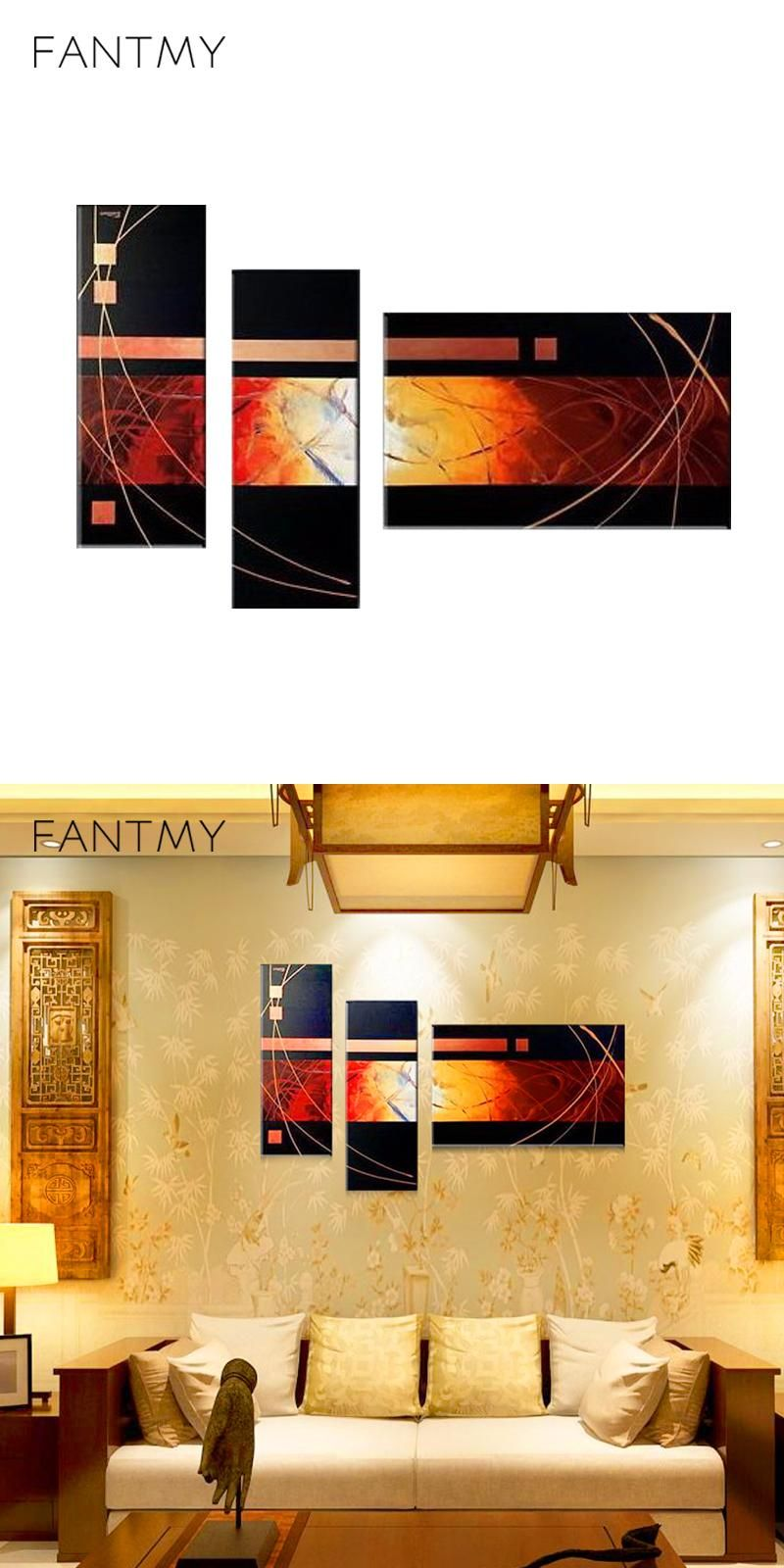 FANTMY Framed DIY Painting By Numbers Landscape Acrylic Picture Wall ...