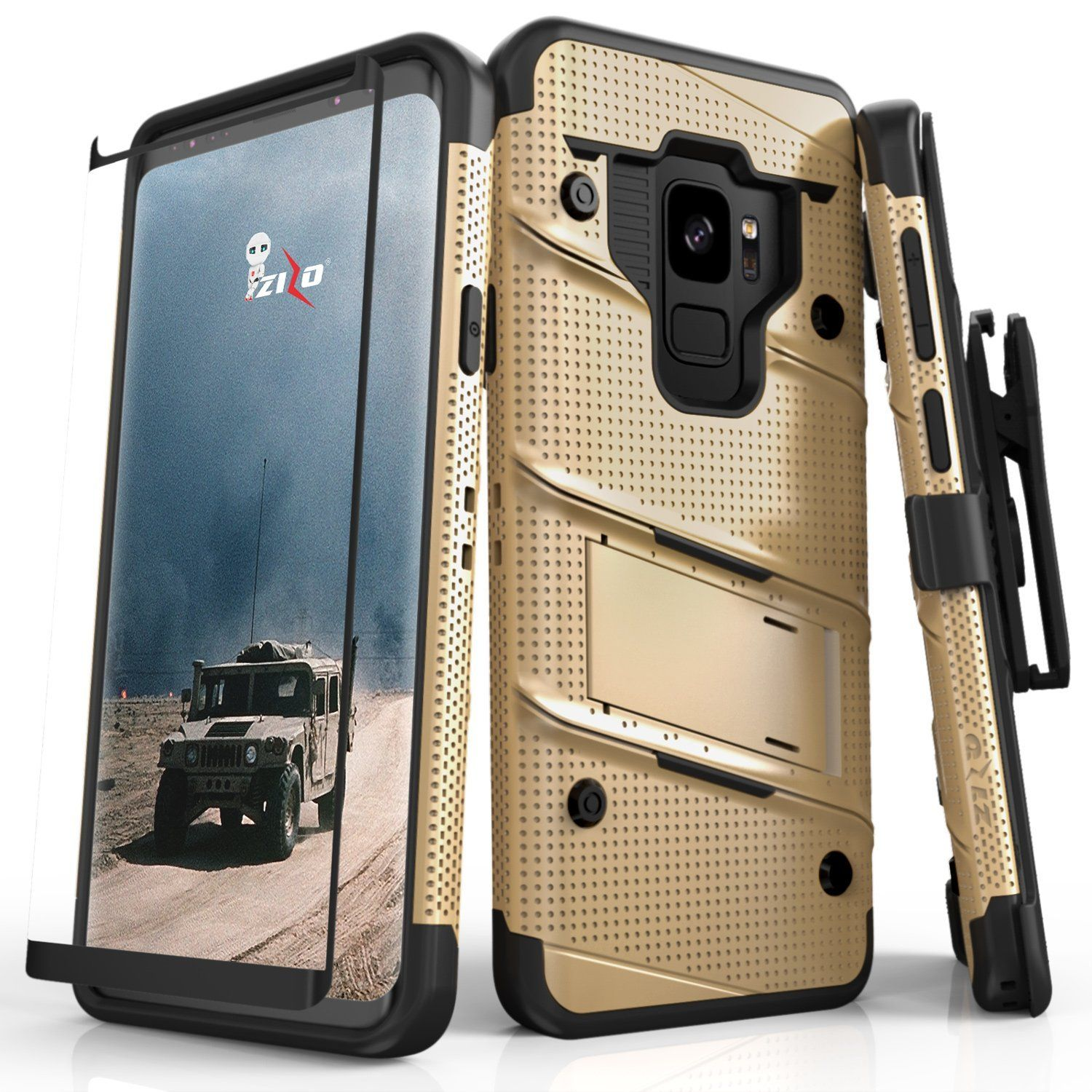 Zizo Bolt Case for Samsung Galaxy S9 12 ft Military Grade Drop Tested