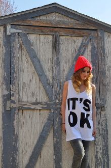 It's Ok Tank. Get yours at shop.itsokapparel.co