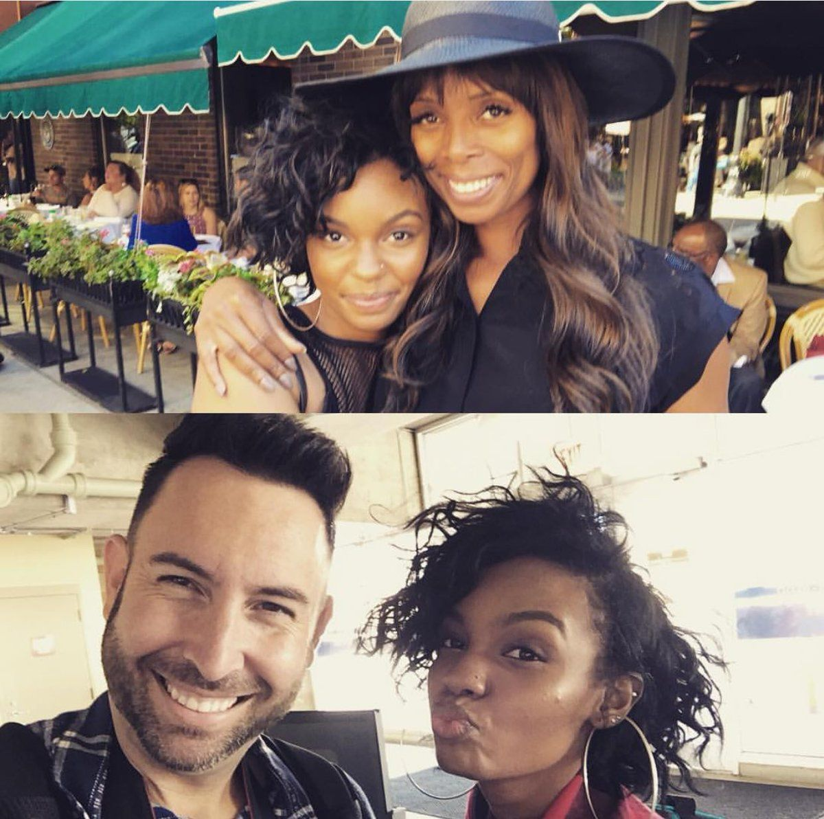 """Sierra McClain reunited with her """"Daddy's Little Girls"""" movie mom Tasha Smith (Who plays one of Cookies sisters)   09.18.16   : Josh Williams @joshwphoto"""