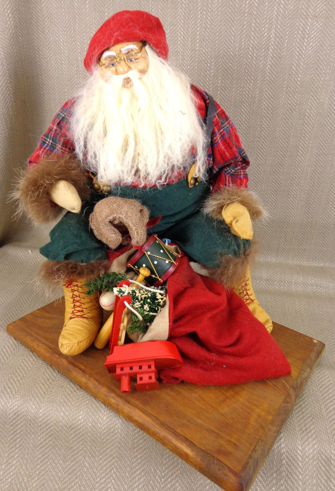 vtg handmade christmas decoration timeless collectables santa statue limited edt ebay