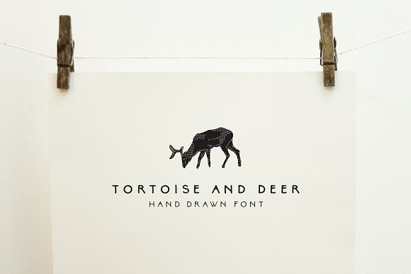 Tortoise and deer font family off by emma make on