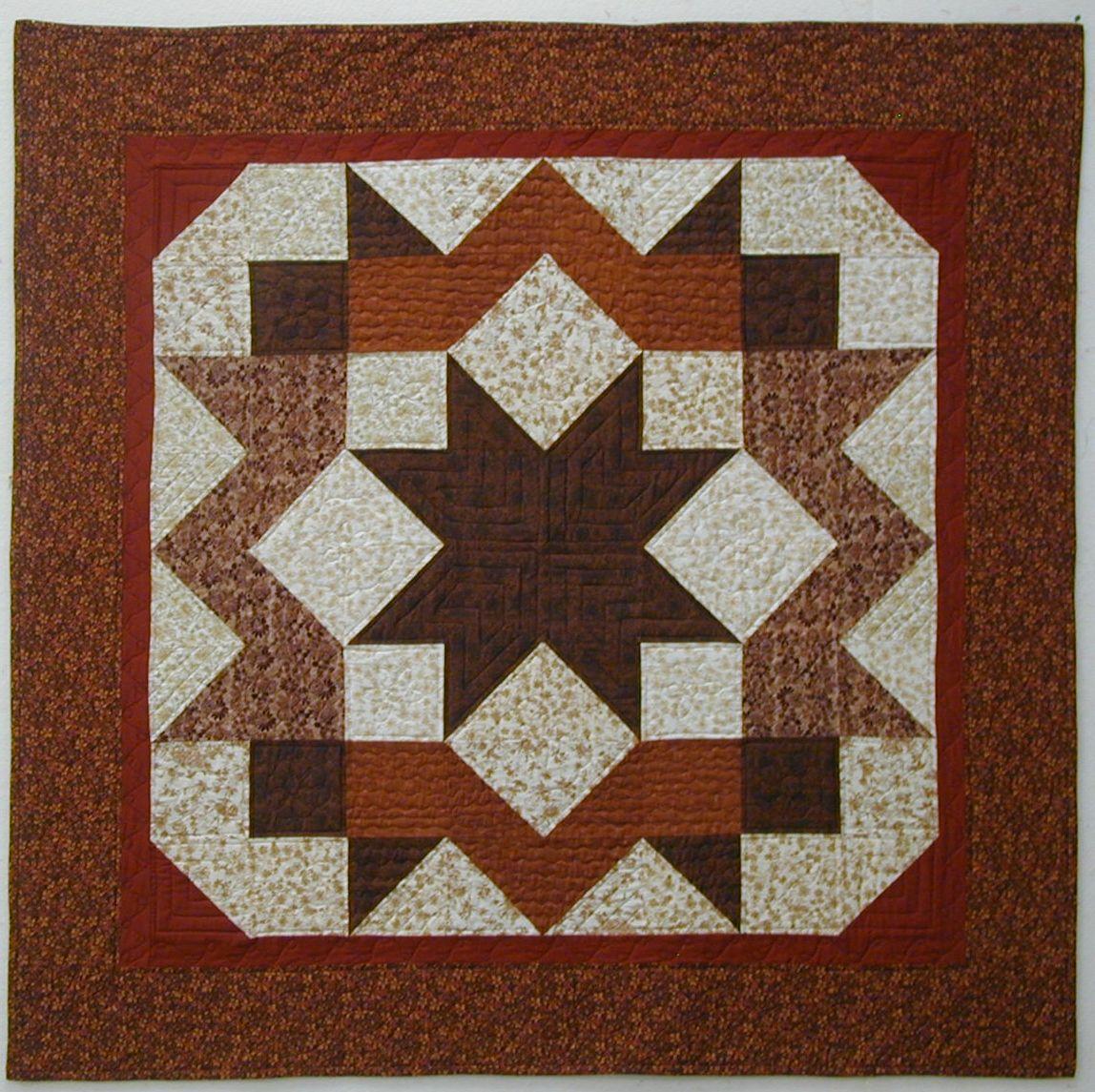 Carpenter Star Quilt Pattern Gail S Carpenter Star Quilt Close
