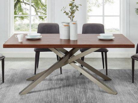 mesa comedor cristal y madera | mesas de salon baratas ...
