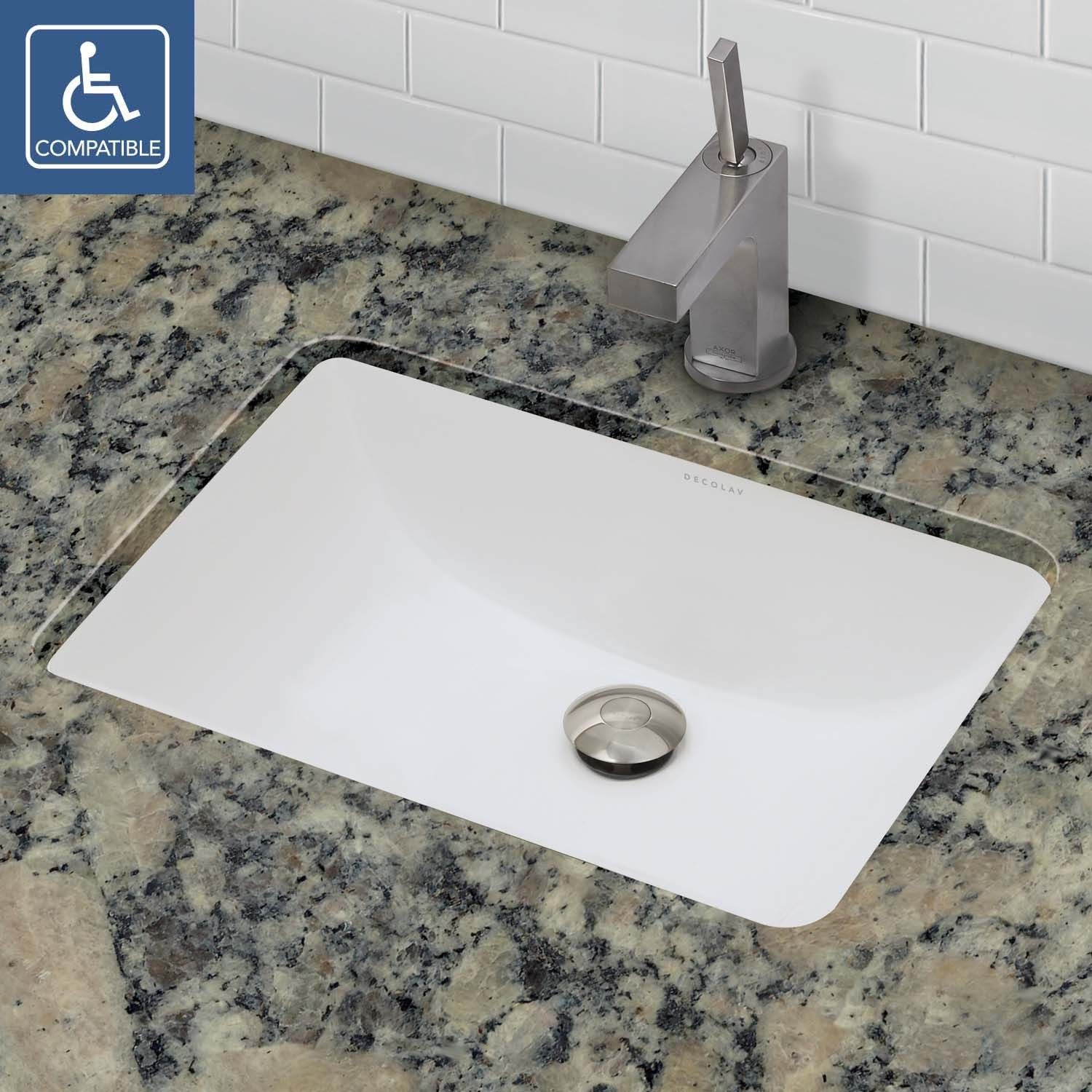 Classically Redefined Rectangular Undermount Vitreous China Bathroom Sink Undermount Bathroom Sink Rectangular Sink Bathroom Ceramic Bathroom Sink