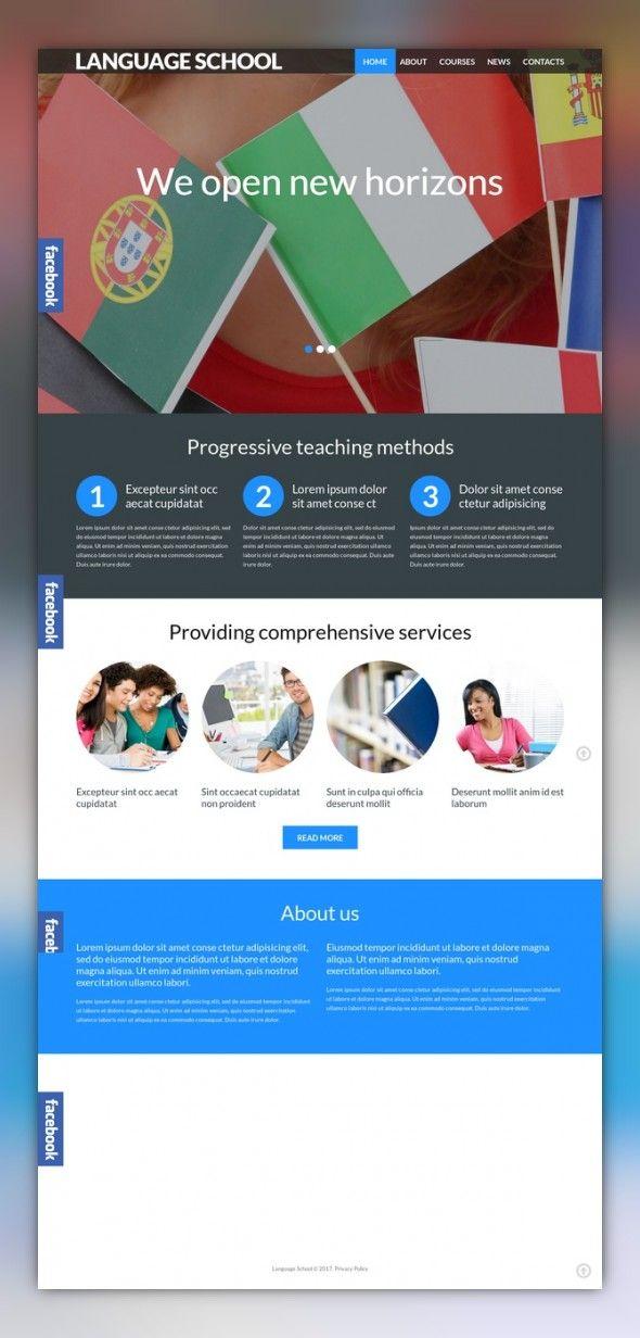 Language School Responsive WordPress Theme   Language school ...