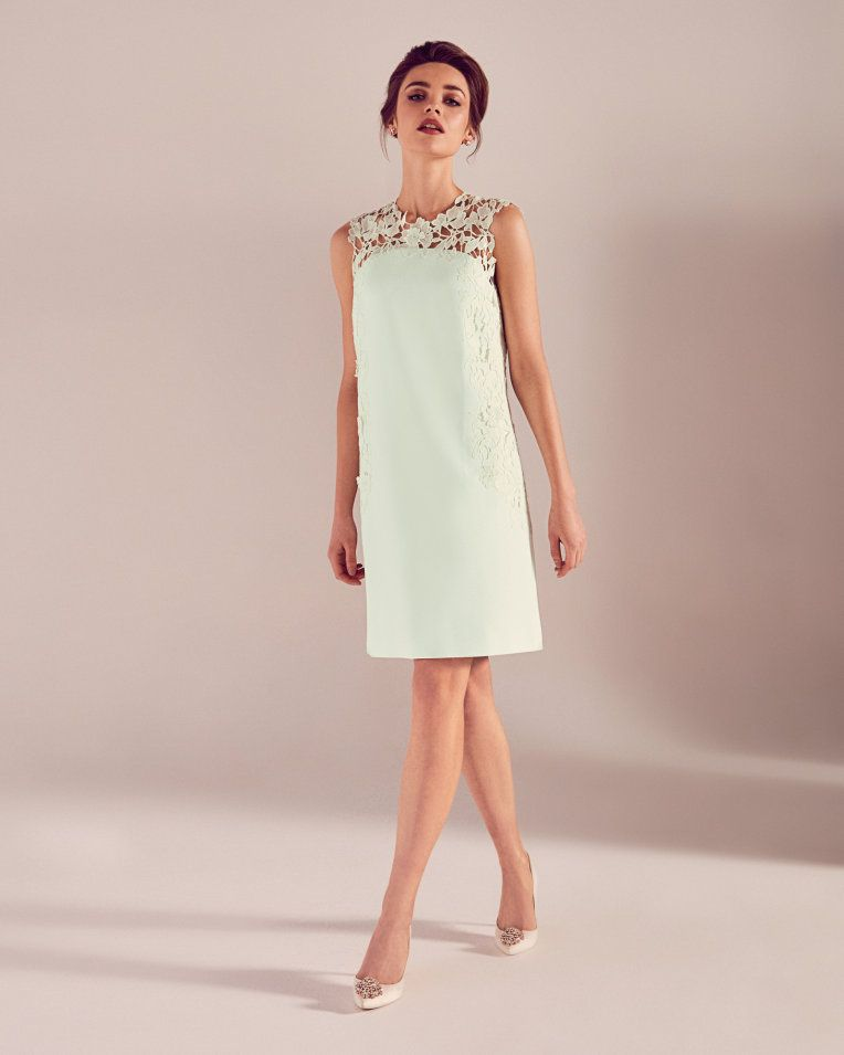 a6c8ef177 Applique lace tunic dress - Light Green