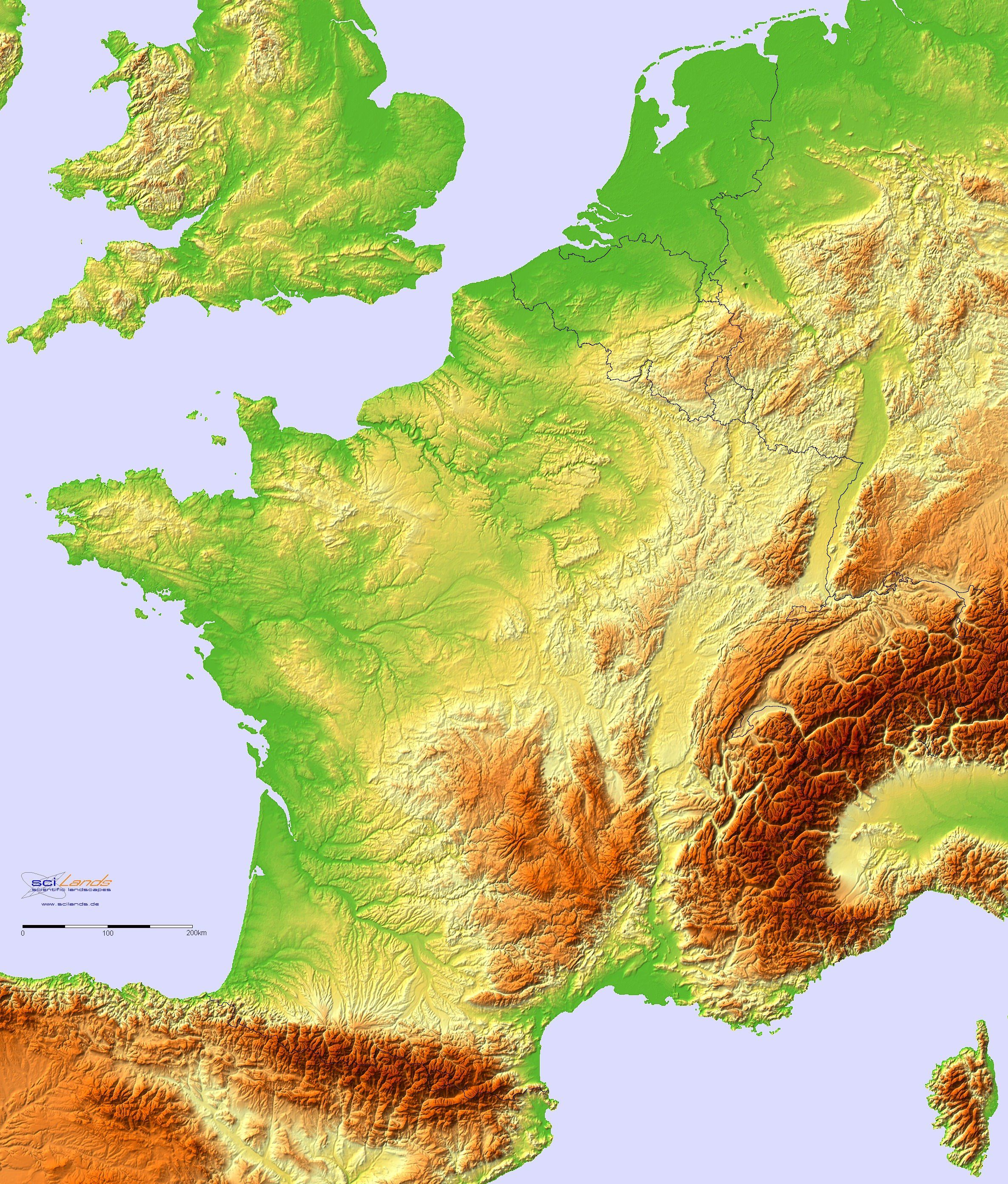 Highly Detailed French Terrain 2370x2784 Maps History Maps