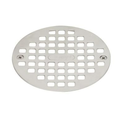 Oatey Pvc Shower Drain With Chrome Barrel And Square 4 3 16 In
