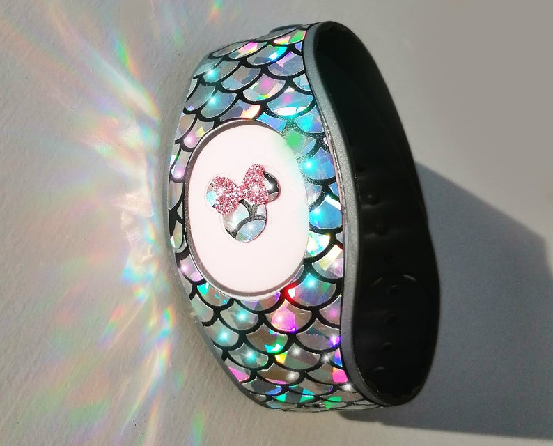 red,blue,pink,rose gold decal stickers for magic bands 2 Magicband decal wrap Sparkly glitter wraps skins decals for magic band 2.0  teal