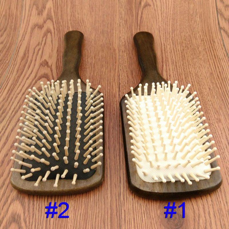 Pettini di legno Spazzola piatta di Legno Hair Care Spa Massage Antistatico Pettine Per Le Donne