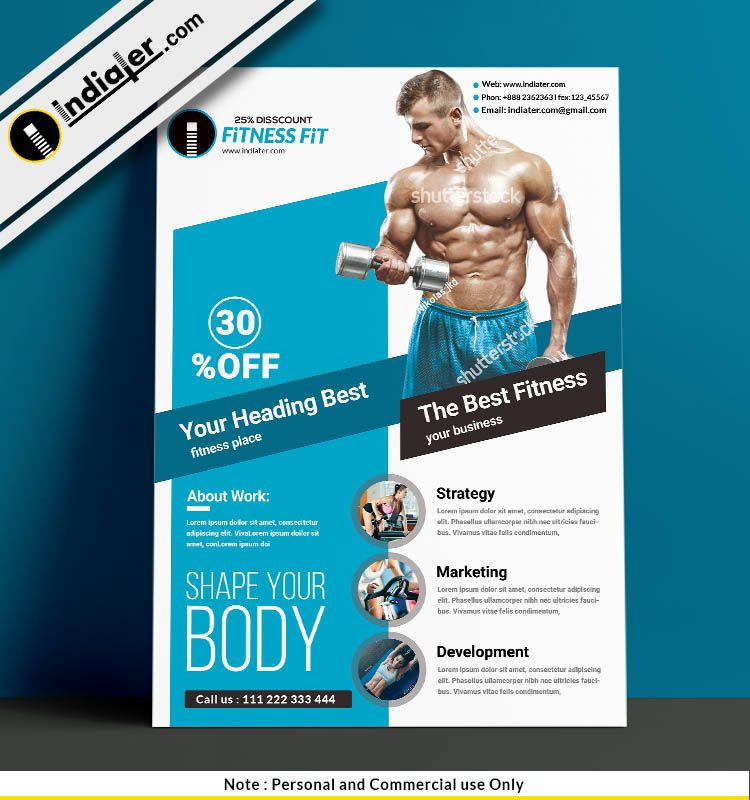Fitness Free Psd Flyer Template Fitness Flyer Free Psd Flyer