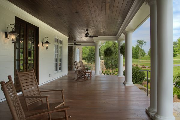 Southern Charm Low Country Porch Outdoor Spaces Low