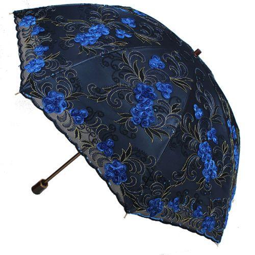 Women-Embroidery-lace-Parasol-Anti-UV-Sun-Rain-protection-Lady-Folding-Umbrella