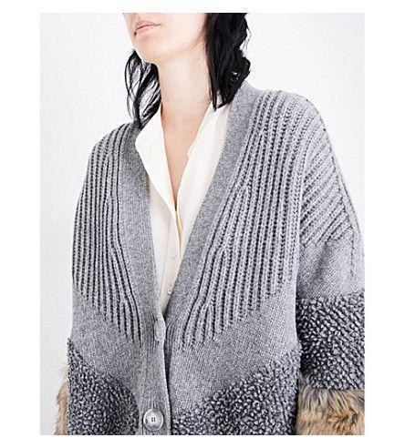 cb1960bd2 STELLA MCCARTNEY Faux-fur trim wool cardigan