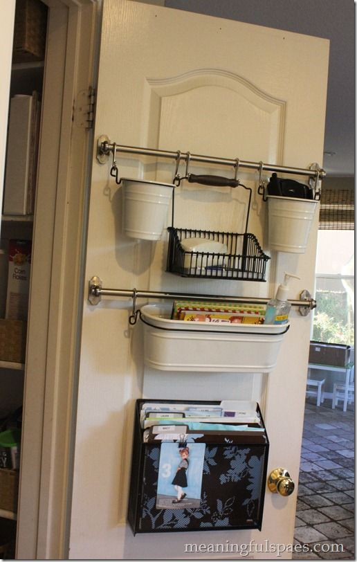 Exceptionnel 2 Baskets For Organized Receipts To Go On Pantry Door! Pantry Door Solutions  For Keeping Kitchen Counter Tops Clutter Free