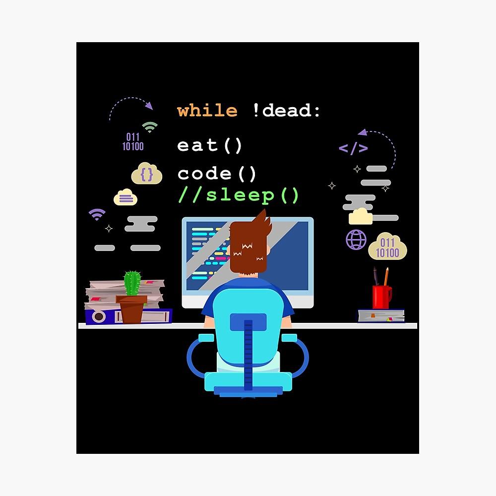 Eat Sleep Code Computer Science Programming Graphic Poster By Lisbob In 2021 Computer Science Programming Computer Science Coding