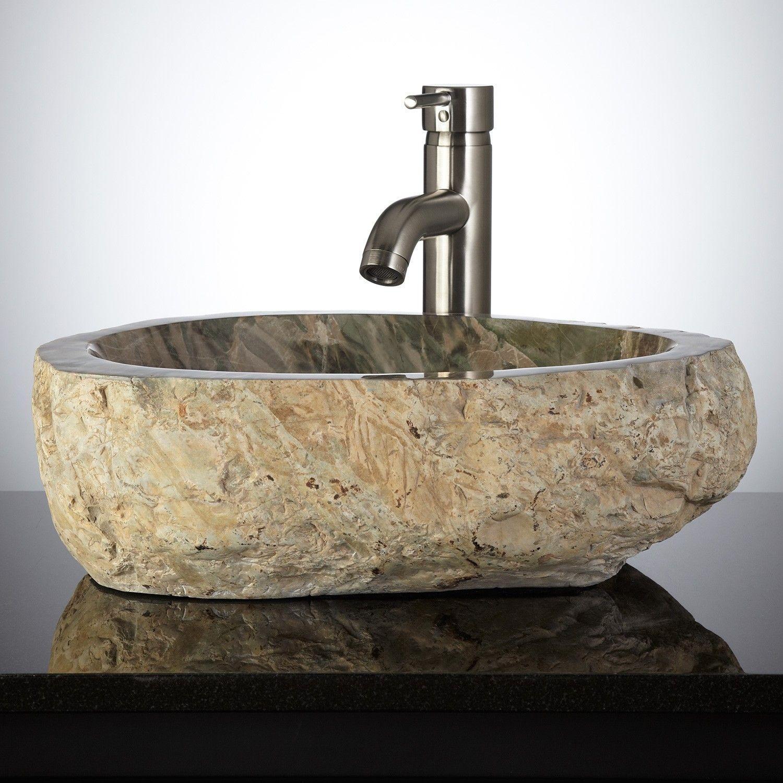 Liepa Natural Stone Vessel Sink - Vessel Sinks - Bathroom ...