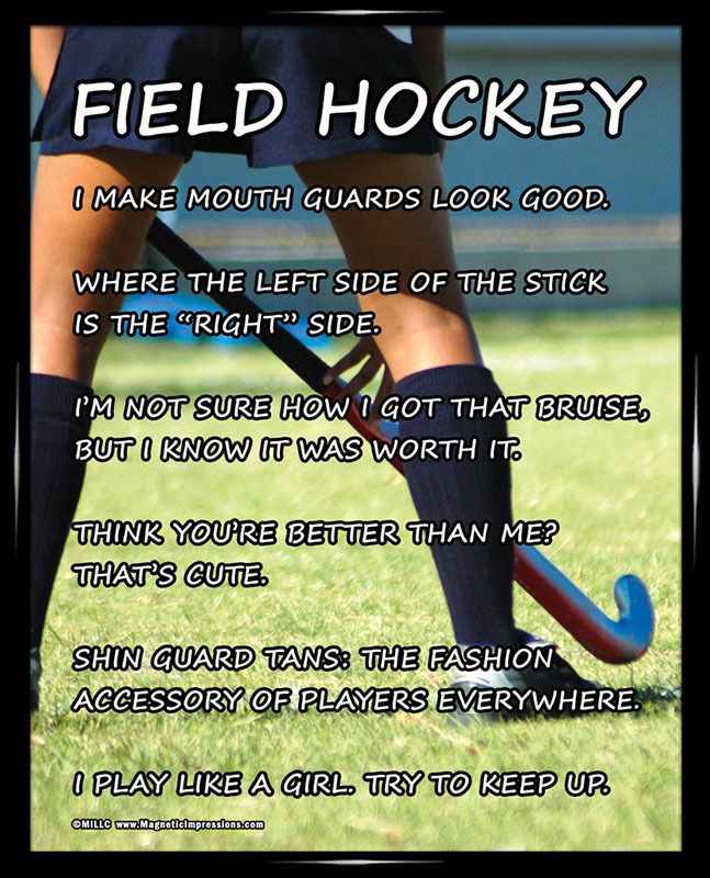 Funny Field Hockey Quotes: Field Hockey Player 8x10 Sport Poster Print