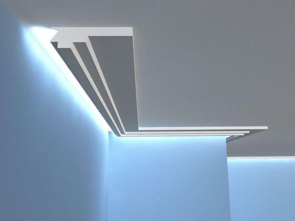 Lichtleiste Decke Led Lo15 Stuckleiste Led In 2020 Lichtleiste Decke Deckenbeleuchtung Led Deckenleiste