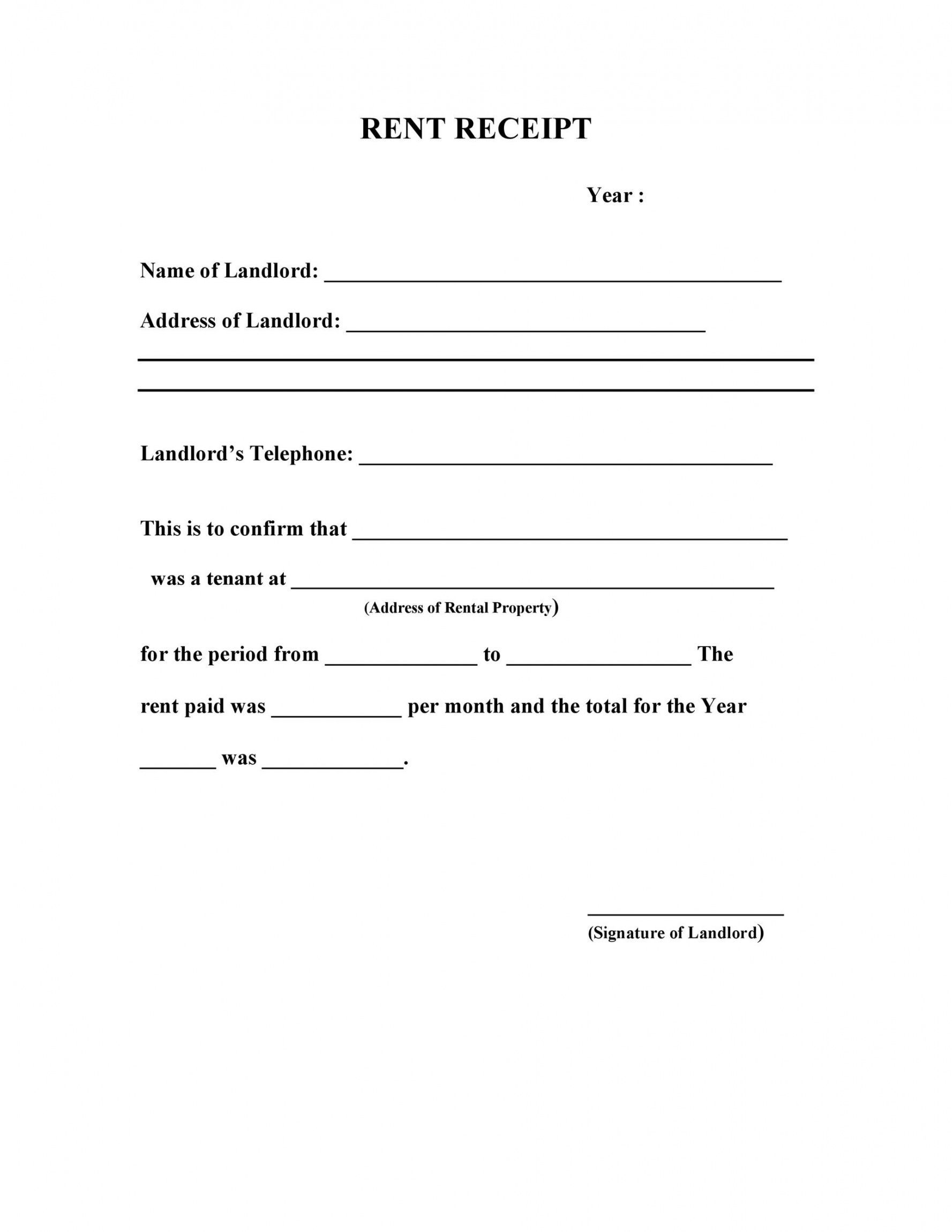 Browse Our Sample Of Rent Payment Slip Template Receipt Template Being A Landlord Templates