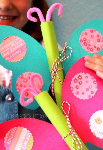 DIY Schmetterling Geburtstagseinladung. Kindergeburtstag RezepteEinladung  KindergeburtstagEinladungskarten KindergeburtstagKinder BastelnKreativ Einladung ...