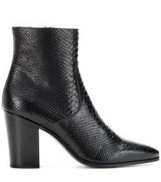 Saint Laurent - Embossed leather ankle boots - mytheresa.com