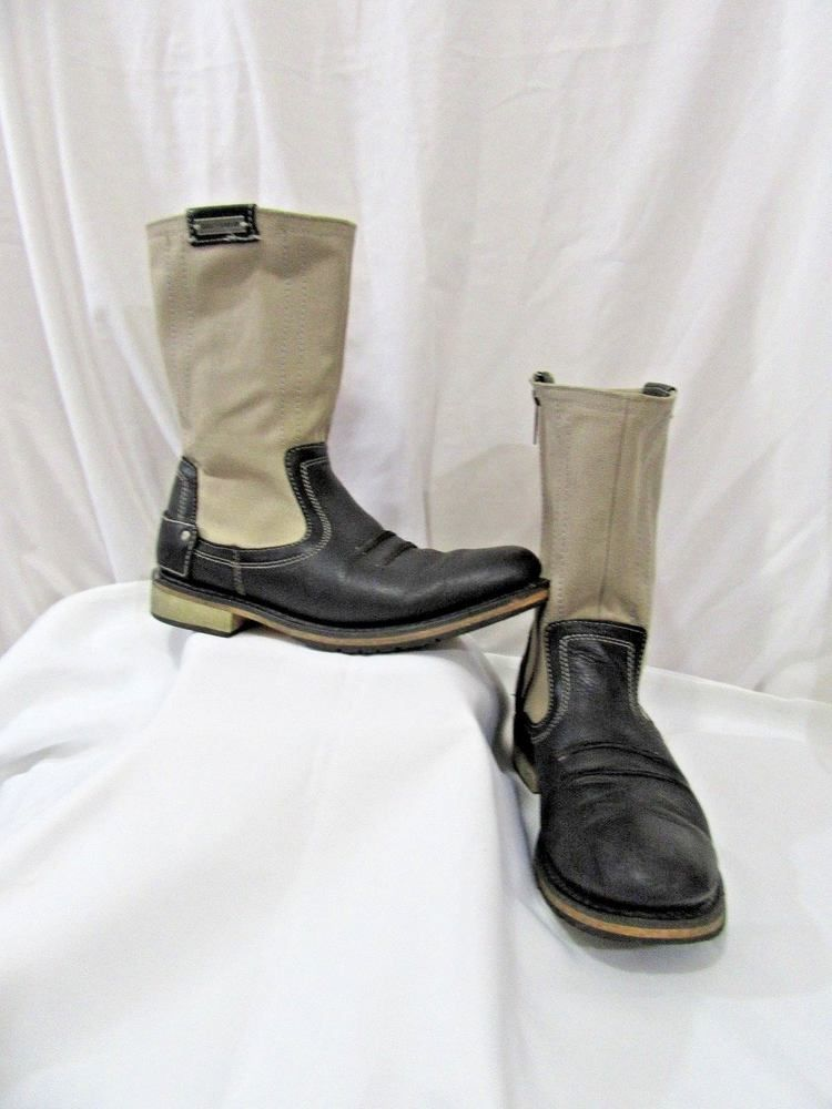 7922e91f1ce Details about Men's Harley Davidson, Black Leather, Motorcycle Boots ...