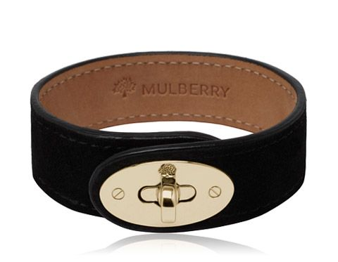 73136bccc0d27 Mulberry - Bayswater Bracelet in Black Suede | Fashion | Suede ...