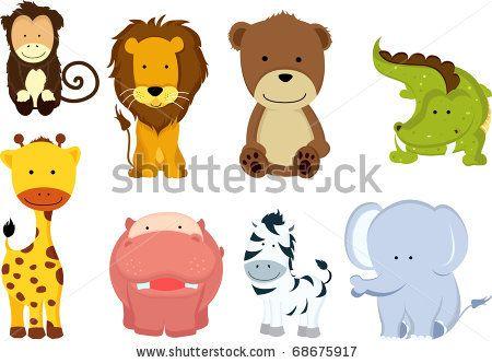 A Vector Illustration Of Different Wild Animals Cartoons Cartoon Animals Zoo Animals For Kids Animals Wild