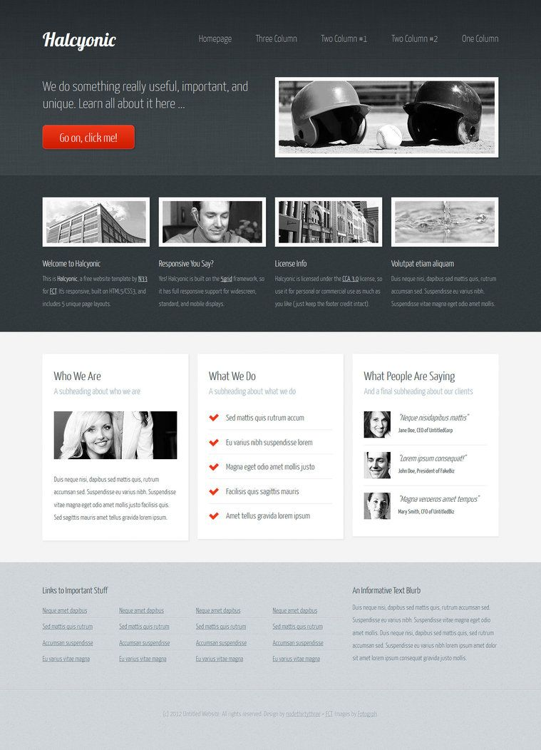 Halcyonic (free HTML5/CSS3 template) by ~nodethirtythree #webdesign ...