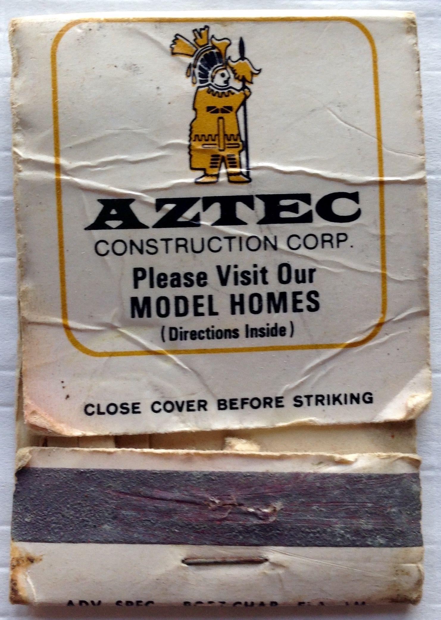 Aztec Construction Corp. frontstriker matchbook To