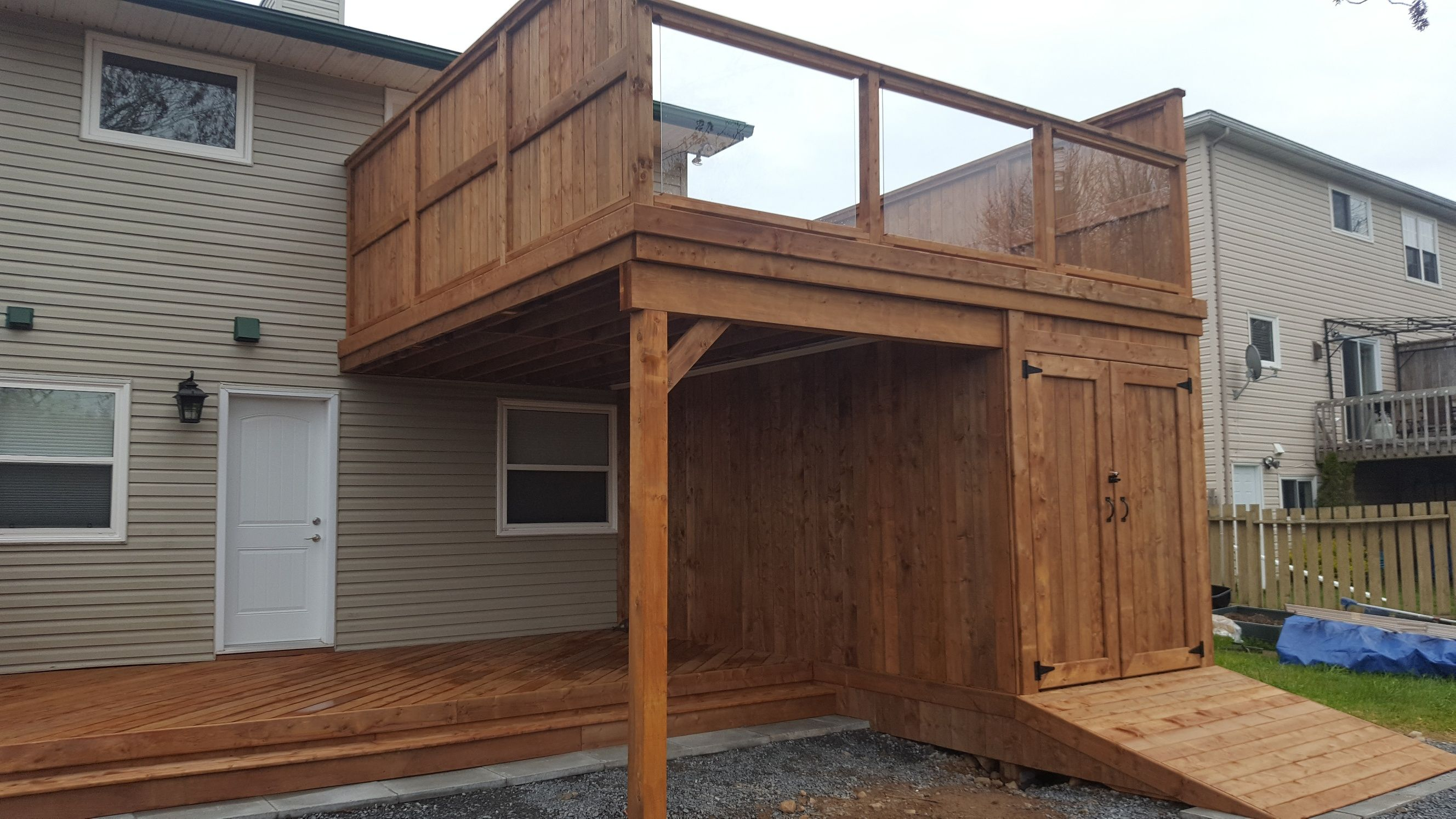 Two Level Deck Large Storage Area We Had A Blast Building