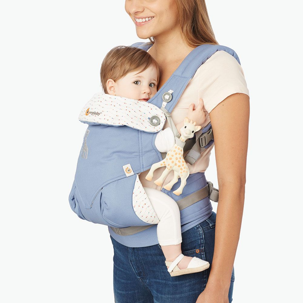 """<div class=""""clean-content"""">     <p>         The Sophie La Girafe 360 offers every carry position for your 'do anything' days, from naptime at the market or together time at the museum.      </p>     <ul>         <li>Ergonomic, forward facing option</li>         <li>Wide waistband for extra back support</li>         <li>Adjustable padded shoulder straps for neck & shoulder comfort</li>         &l..."""