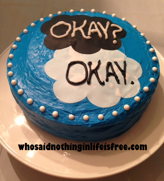 Fault in Our Stars Birthday Cake Easy to Make Fault in Our Stars