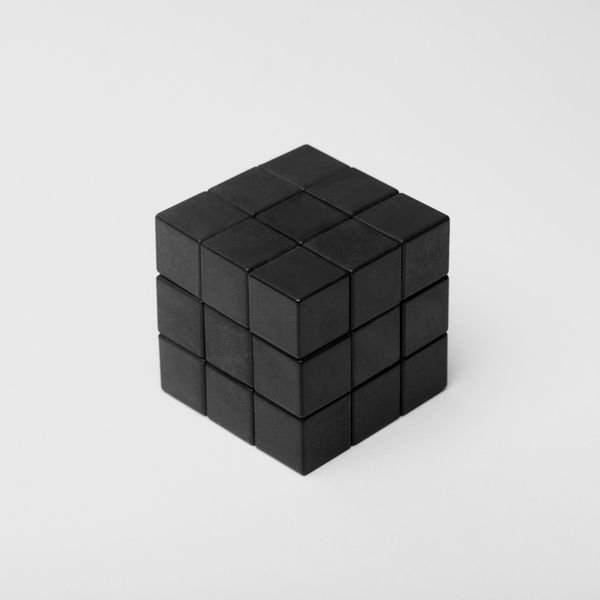 A Black Cube In An All White Setting Art Such As This Give Me