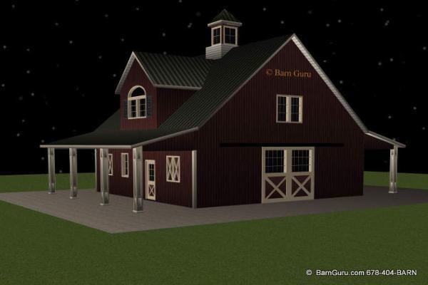 Horse Barn With Living Quarters Floor Plans: Pinterest