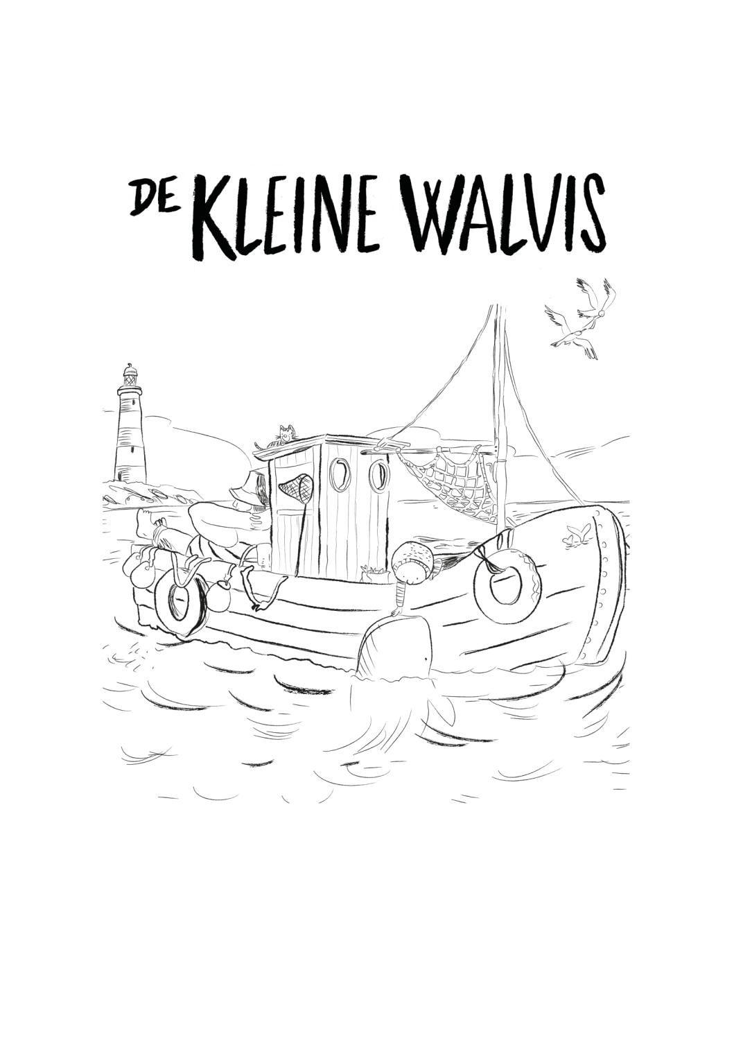 Kleurplaat De Kleine Walvis Van Benji Davies Movie Posters Poster Movies