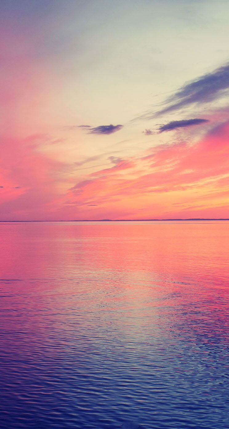 Beautiful Sea Horizon Sunset Jpg 744 1392 Sunset Wallpaper Beautiful Beach Pictures Iphone Wallpaper Sea
