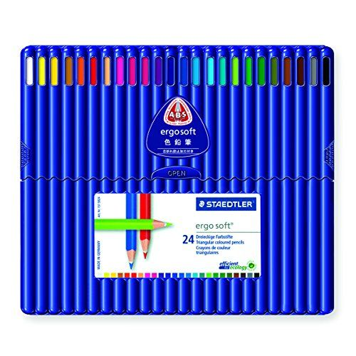 Boxes of 12 or 24 coloured pencils STAEDTLER ERGOSOFT COLOURED PENCILS