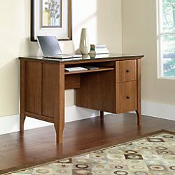 sauder appleton faux marble top computer desk 30 710 h x 53 532 w